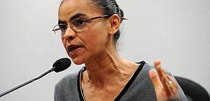 A candidata Marina Silva