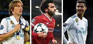Modric, Salah e Ronaldo