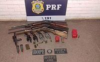 Armas foram apreendidas durante a operação em Atalaia.