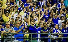 Torcedores comemoram vitória sobre o Juventude, no último jogo do CSA em casa nesta Série B