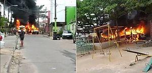 Vans são incendiadas em diferentes regiões na Zona Oeste do Rio; polícia investiga guerra entre milicianos
