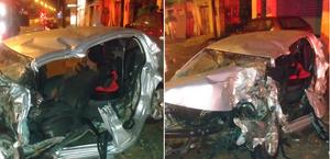Homem morre após carro bater em cheio em pá carregadeira na BR-104; vídeo