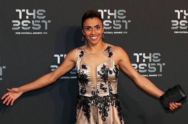 Alagoana Marta é eleita a melhor jogadora do mundo pela sexta vez
