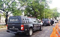 Operação da Deic tem ajuda do Corpo de Bombeiros para transportar preso com obesidade mórbida