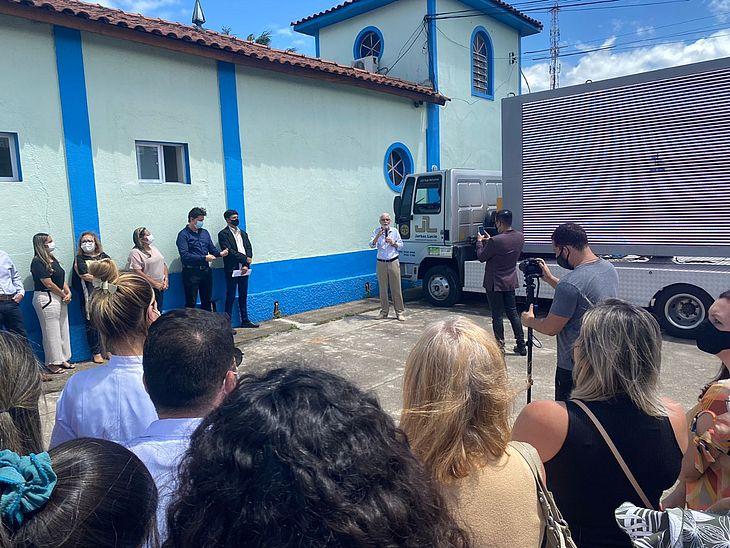 A cerimônia foi realizada no portão de acesso a instituição e contou com a presença do provedor Geraldo Magela Pirauá