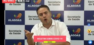 Alagoas tem 10 casos confirmados de coronavírus; 175 estão sob investigação