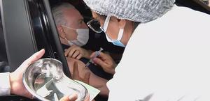 Ex-presidente Michel Temer é vacinado contra Covid-19 em São Paulo