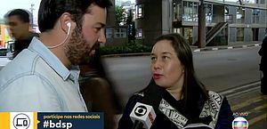 Ao vivo, entrevistada se confunde e chama apresentador de Ricardo Boechat