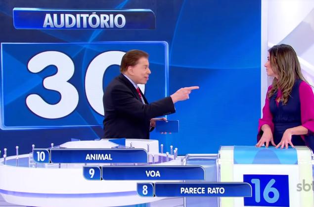 No Jogo das Três Pistas, Rebeca Abravanel vira piada ao dizer que avestruz voa
