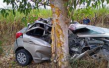 Acidente deixou um morto e motorista ferido