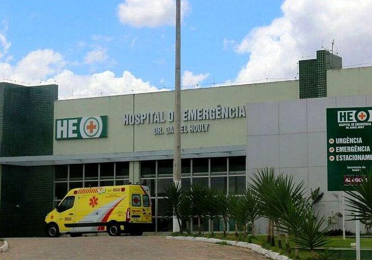 Pai ferido foi levado a hospital