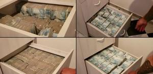 Vídeo: Polícia encontra R$ 8 milhões em gavetas durante operação em SP