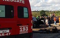 Grave acidente deixa dois mortos e um ferido, na BR 101, em Junqueiro