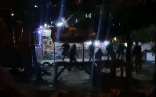 Vídeo mostra confusão durante abordagem policiam em parque de diversões