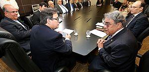 Presidente Tutmés Airan e corregedor nacional Aloysio Corrêa da Veiga.