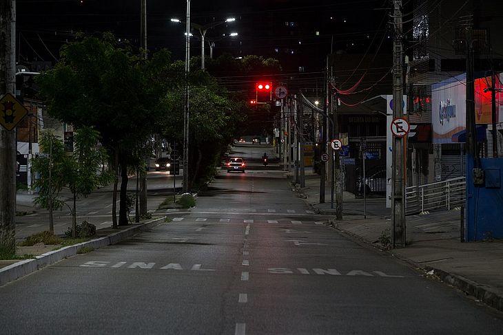 Redução de circulação de veículos em Fortaleza