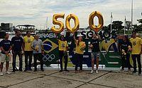 Com escultura itinerante, COB celebra marco de 500 dias para Tóquio-2020