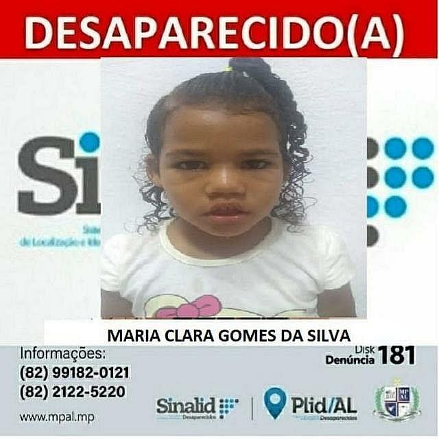 Pai de Maria Clara diz não acreditar que menina esteja com pessoa interessada em criá-la