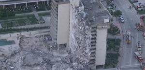 Desabamento parcial de prédio na Flórida deixa um morto; 51 estão desaparecidos