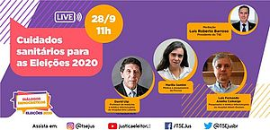 Diálogos Democráticos: TSE promove live interativa sobre cuidados sanitários