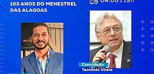 CESMAC promove live sobre os 103 anos do Menestrel das Alagoas com participação de Teotônio Vilela