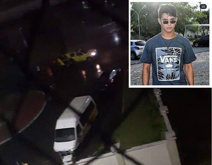 Em destaque maior a imagem do acidente que vitimou Rubens Santos