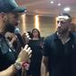 O cantor Latino fez doação para igreja evangélica no Rio de Janeiro.
