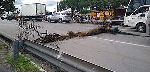 Moradores do Eustáquio Gomes bloqueiam BR-104 em protesto contra falta d'água