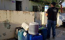 Combustível foi encontrado em casa no Trapiche