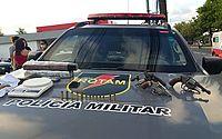 Dois suspeitos são presos com armas e drogas no Village Campestre