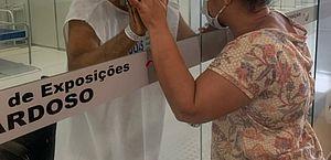Rose Santos esteve no Hospital de Campanha e pôde ver o marido Elenildo
