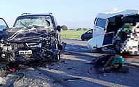 Leonardo Oliveira dirigia a Pajero quando o acidente aconteceu.