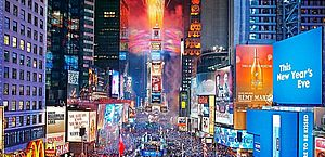 Festa de Réveillon na Times Square, em Nova York, será virtual
