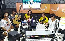 Mell Nacimento, Natalhinha e Wedja Miranda deram entrevista a Floracy e Telma Cavalcante do programa Gerações.