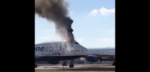 Vídeo: jumbo da British Airways estacionado na Espanha pega fogo