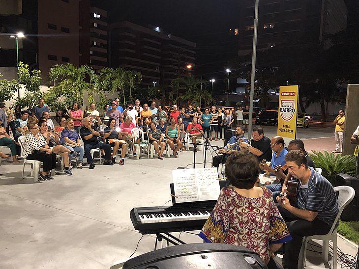 Apresentação da orquestra no Ronda no Bairro Cultural