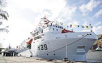 Navio estará aberto a visitas a partir de segunda