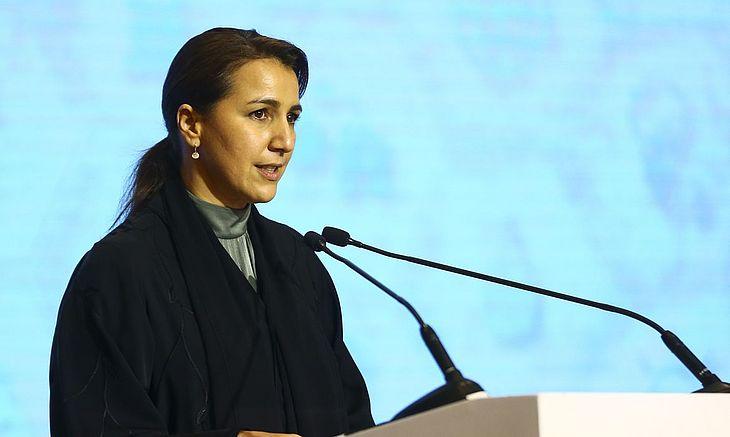Ministra de Mudanças Climáticas e Meio Ambiente dos Emirados Árabes, Mariam Almheiri