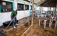 Barracas de praia fizeram trabalho de higienização para reabrir