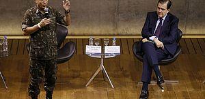 General Braga Netto participa de debate sobre a intervenção federal na segurança pública do Rio de Janeiro