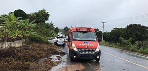 Bombeiros são acionados para socorrer vítima de acidente em Branquinha