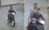 Câmera flagra suspeitos de roubo e de agressão em Barro Duro