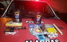 Homem é preso com maconha e maquineta de cartão na parte alta de Maceió