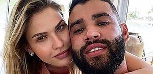 Gusttavo Lima e Andressa Suita viajam até Angra para tentar reconciliação