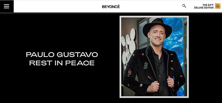 Reprodução/Site Beyoncé