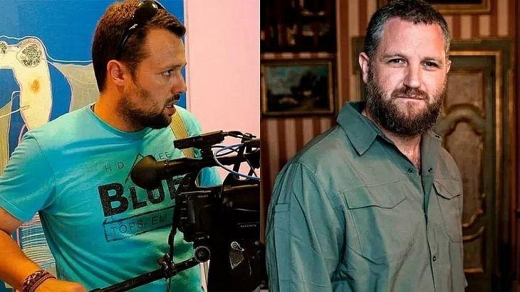 Cinegrafista Roberto Fraile e repórter David Beriain