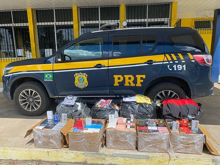 PRF apreende mais de 100kg de mercadoria sem nota fiscal em São SebastiãoAL