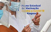 1.100.286 doses das vacinas contra a Covid-19 foram aplicadas em Alagoas