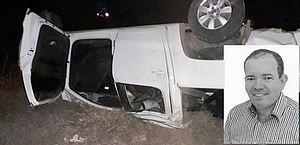 Vereador morreu após caminhonete capotar no interior de AL