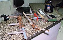 Armas foram encontradas em local usado para tráfico